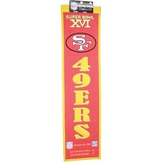 Super Bowl XVI San Francisco 49ers Heritage Banner