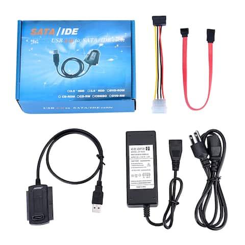 AGPtek USB 2.0 to IDE SATA S-ATA 2.5 3.5 HD HDD Converter Adapter Cable New - M