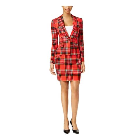 Opposuits Womens Lumber Jackie Skirt Suit Plaid One-Button