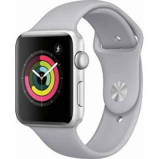 Apple Watch Series 3 (GPS), 42mm Silver Aluminum Case with Fog Sport Band - Silver Aluminum