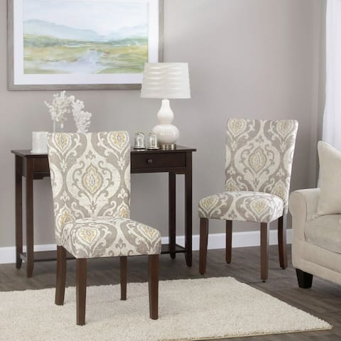 HomePop Classic Parsons Dining Chair - Suri Brown (Set of 2)