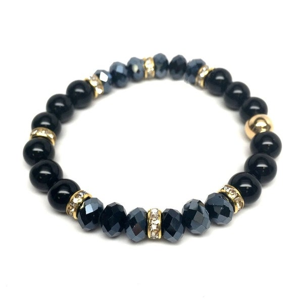 "Black Onyx Posh 7"" Stretch Bracelet"