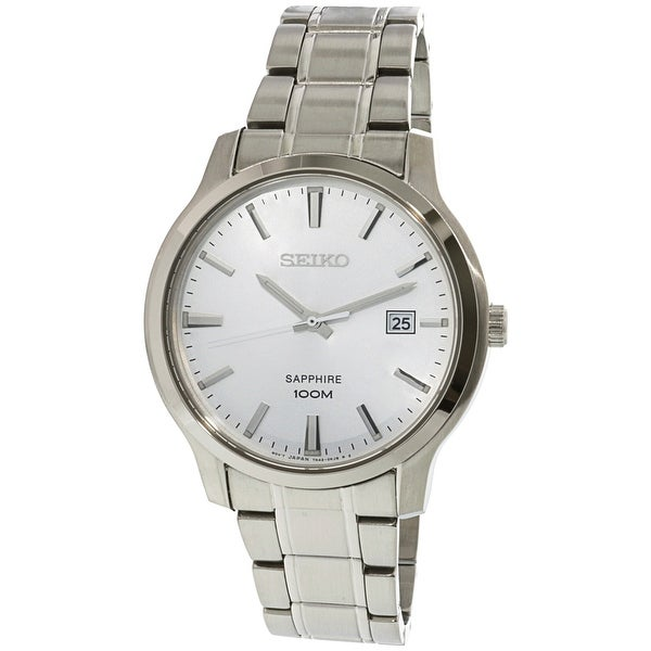 516396f86 Shop Seiko Men's Neo Classic Silver Stainless-Steel Fashion Watch - Free  Shipping Today - Overstock - 21907472