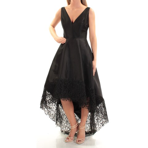 Womens Black Sleeveless FullLength Fit + Flare Formal Dress Size: 2