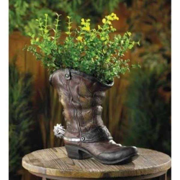 Lone Cowboy Boot Planter On