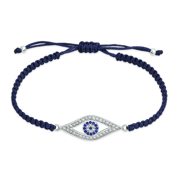 Shop Bling Jewelry Blue Evil Eye Cz Bracelet Shamballa Inspired