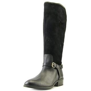 Lauren Ralph Lauren Marion Round Toe Suede Mid Calf Boot