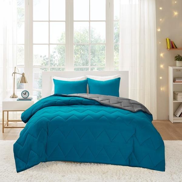 Intelligent Design Penny Reversible Down Alternative Comforter Set. Opens flyout.
