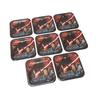 """Star Wars: The Force Awakens 9"""" Square Paper Plates 8ct"""