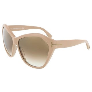 Tom Ford FT0317/S 72L Angelina Nude Oversized Sunglasses