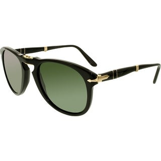 Persol Men's PO0714-95/31-54 Black Oval Sunglasses