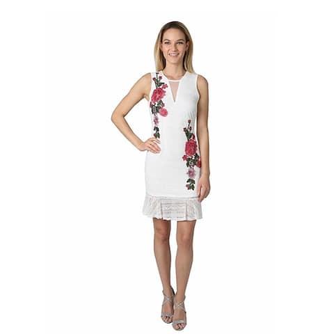 Bebe Womens White Dress