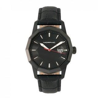 Morphic M56 Series Men's Quartz Watch, Genuine Leather Band, Luminous Hands