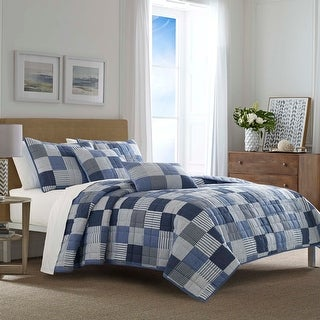 Link to Nautica Holly Grove Blue Quilt Set Similar Items in Quilts & Coverlets
