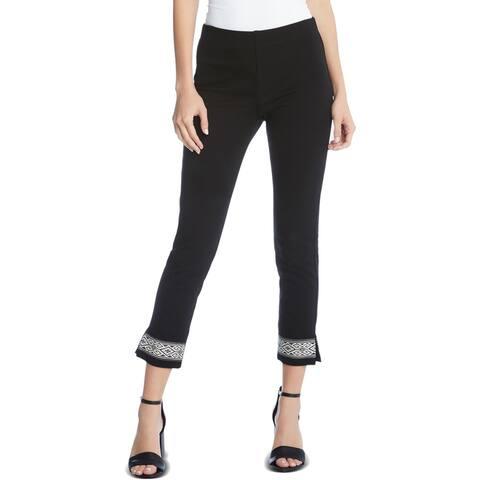 Karen Kane Womens Casual Pants Straight Leg Pull On - Black