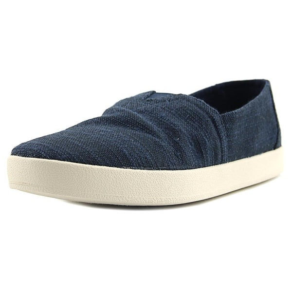 Toms Avalon Men Round Toe Canvas Blue Loafer