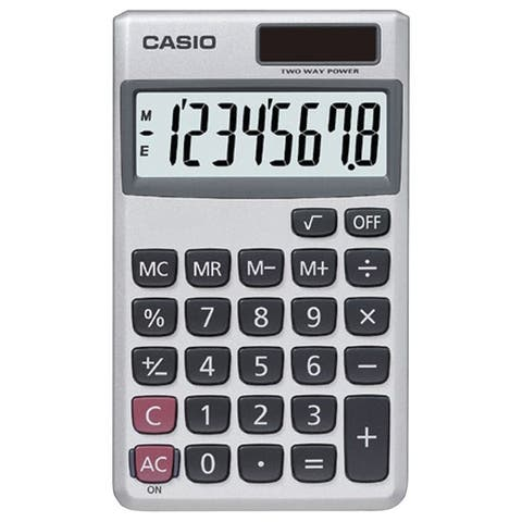 Casio Sl300Ve/Sl300Sv Wallet Solar Calculator With 8-Digit Display