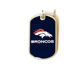 Denver Broncos Dog Tag Necklace Charm Chain