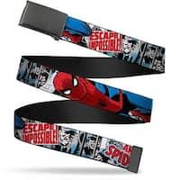 Marvel Comics blank Black  Buckle The Amazing Spider Man Escape Web Belt