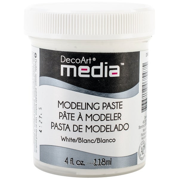 Media Modeling Paste 4oz-White - White