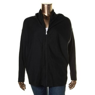 Lauren Ralph Lauren Womens Full Zip Sweater Ribbed Knit Signature