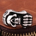 Vienna Jewelry Stainless Steel Claw Embelm Ring - Thumbnail 1