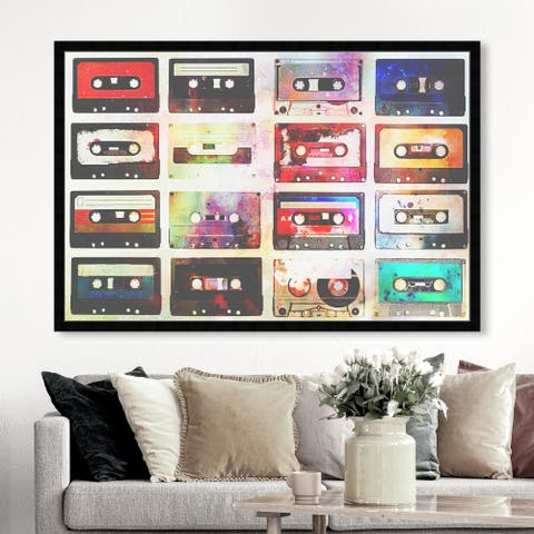 Oliver Gal 'Goodtimes Tunes' Music and Dance Wall Art Framed Print - Black, Red