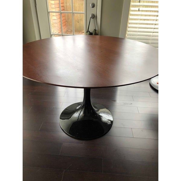 103195172522 Shop Eero Saarinen Style Tulip Dining Table in Black with Walnut Top - On  Sale - Free Shipping Today - Overstock - 6673181