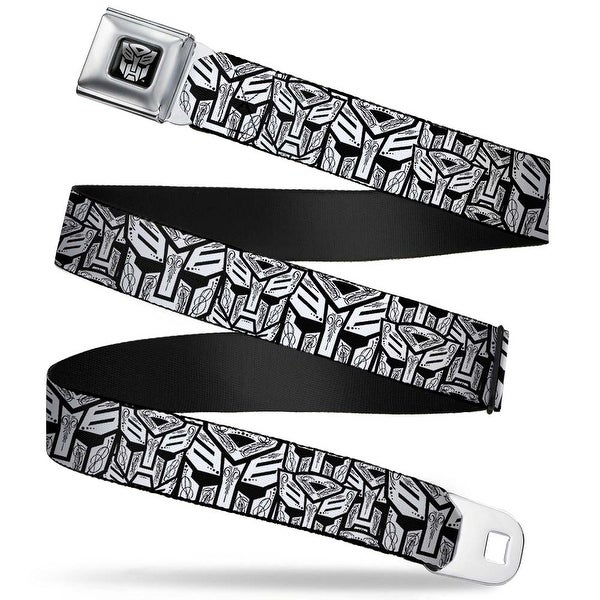 Transformers Autobot Logo Full Color Black Silver Gradient Autobots Swirl Seatbelt Belt