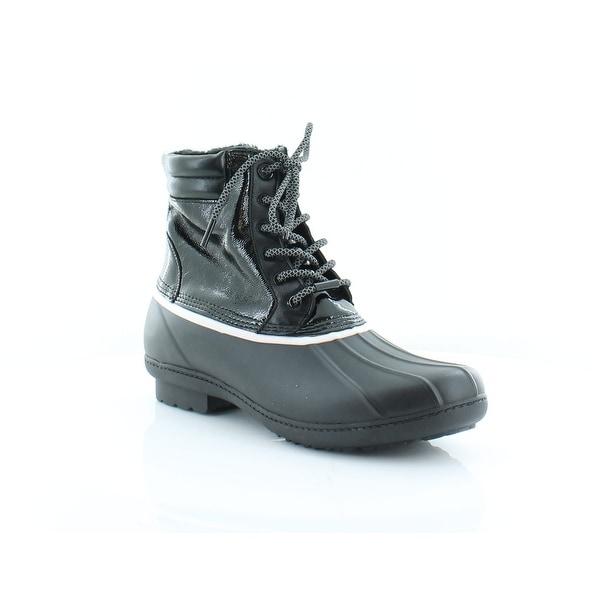 Michael Kors Easton Lace-Up Women's Boots Black - 11