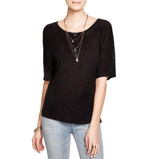 Free People Womens Gemma Pullover Top Linen Open Back