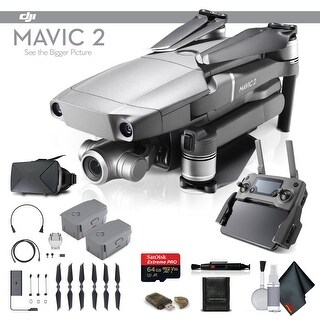 DJI Mavic 2 Zoom (CP.MA.00000020.01) With 64GB Memory Card, Extra Battery, VR Viewer and More - Essential Bundle