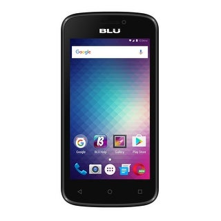 BLU Advance 4.0M Unlocked GSM Quad-Core Phone - Black (Certified Refurbished)