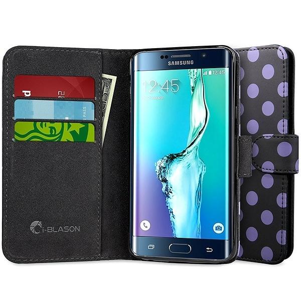 i-Blason Galaxy S6 Edge Plus Leather Wallet Case - Dal Black