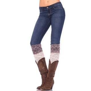 Crochet Knit Socks With Lace Top, Crochet Thigh Highs - One Size Fits most