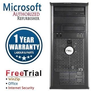 Refurbished Dell OptiPlex 760 Tower Intel Core 2 Duo E7600 3.0G 4G DDR2 250G DVD Win 10 Home 1 Year Warranty - Silver