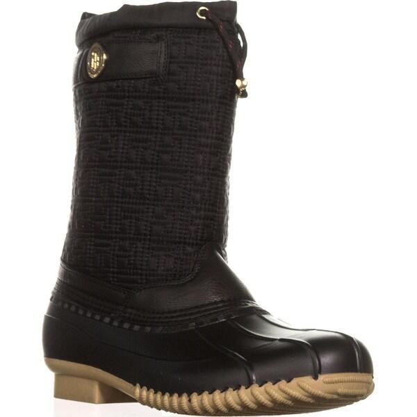 Tommy Hilfiger Romea Mid-Calf Rain Boots, Black Multi