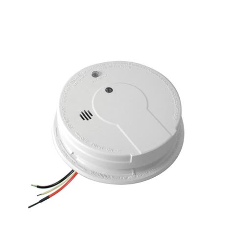 Kidde 21006371 (P12040) Hard-Wired Photoelectric Smoke Detector, White