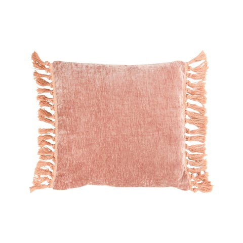 """18"""" Square Polyester Pillow with Tassel Sides"""