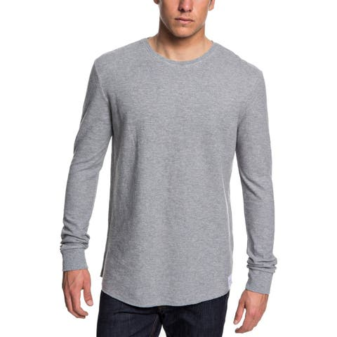 Quiksilver Mens Sweatshirt Gray Size 2XL Solid Crewneck Long-Sleeve