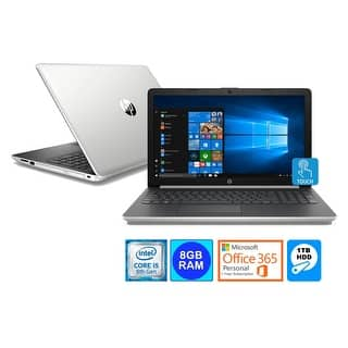"HP 15.6"" Touch WLED Laptop Intel i5-8250U 8GB 1TB HDD Office 365 (Refurbished)"