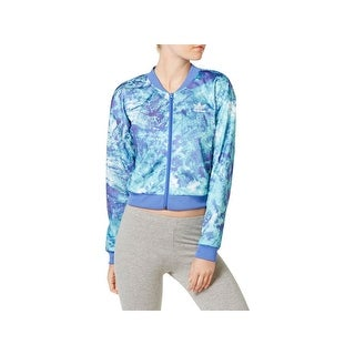 Adidas Womens Athletic Jacket Printed Cropped
