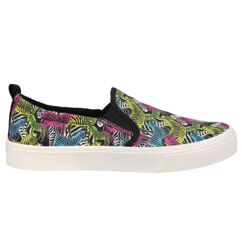 Skechers Poppy Pop Art Animals Slip On Womens Sneakers Shoes Casual