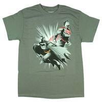 DC Comics Justice League Batman Superman Licensed Men's T-shirt