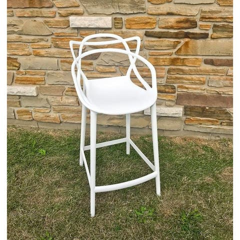Masters Bar Stool in White, Made of Polypropylene