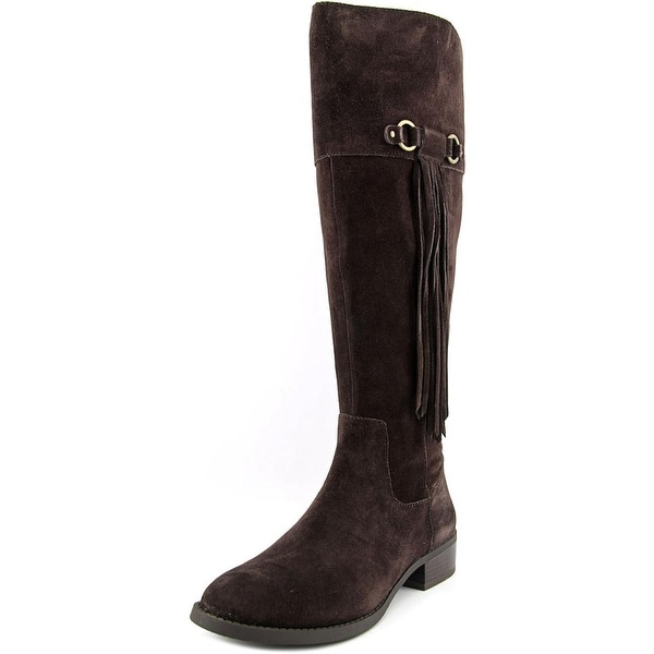 INC International Concepts Fayer Wide Calf Women Round Toe Suede Brown