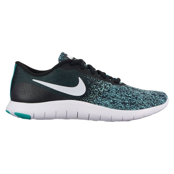 81b86da324bd Shop Nike Women s Flex Contact Running Shoes (Black White-light Aqua-clear  Jade)
