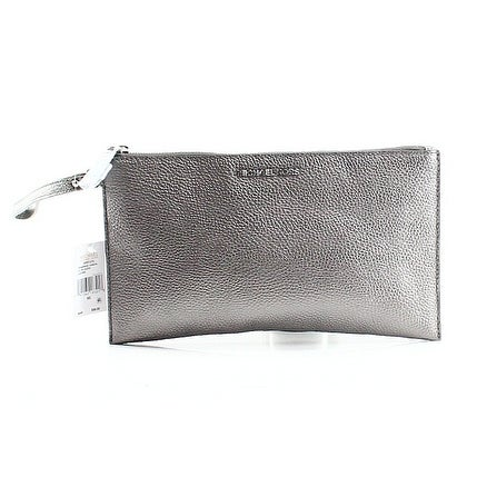 fccb4162bff1 Shop Michael Kors NEW Silver Gunmetal Pebble Leather Mercer Zip Clutch Purse  - Free Shipping Today - Overstock - 19971243