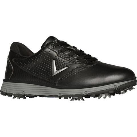 Callaway Men's Balboa TRX Waterproof Golf Shoe Black/Grey Microfiber