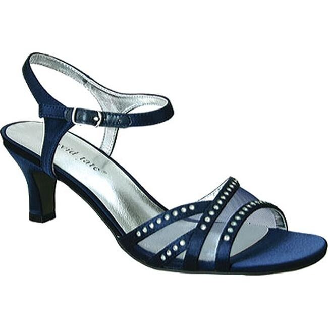 852ed7a42375 Shop David Tate Women s Violet Ankle Strap Sandal Navy Satin - On Sale -  Free Shipping Today - Overstock - 11443863